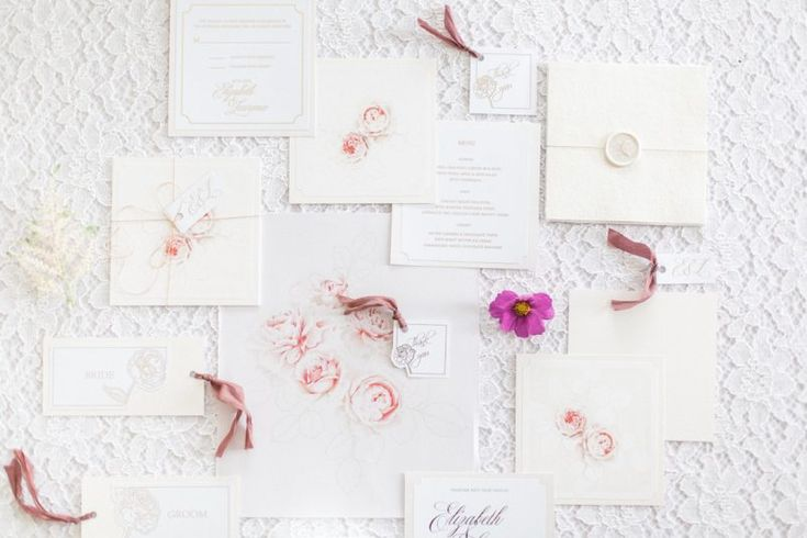 Luxe Pink Winter Wedding Inspiration with the Fine Art Wedding Boutique  #fineartwedding #invitations