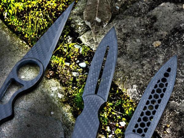 Escort Carbon Fiber Dagger Knife Bundle