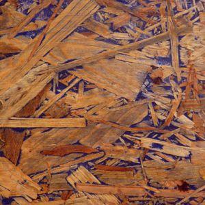Baumin IDEEN - KONZEPTE - ERFAHRUNGEN zum kostengünstigen bauen. Veredelung von OSB Platten mit farbigen Holzkit und Hartöl. Hier mit Ultramarinblau.