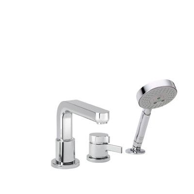 3 Hole Tub Faucet : ... Metris S Trim Three Hole Thermostatic Bath Tub Faucet AllModern @278