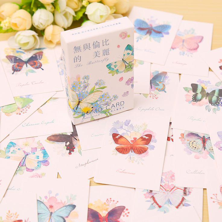 Aliexpress.com : Acquista 28 pz/set Amante della farfalla della carta Carta carta scherza il regalo cartolina biglietto di auguri lomo memo kawaii di cancelleria da Fornitori stationery shelf affidabili su La Vie Store