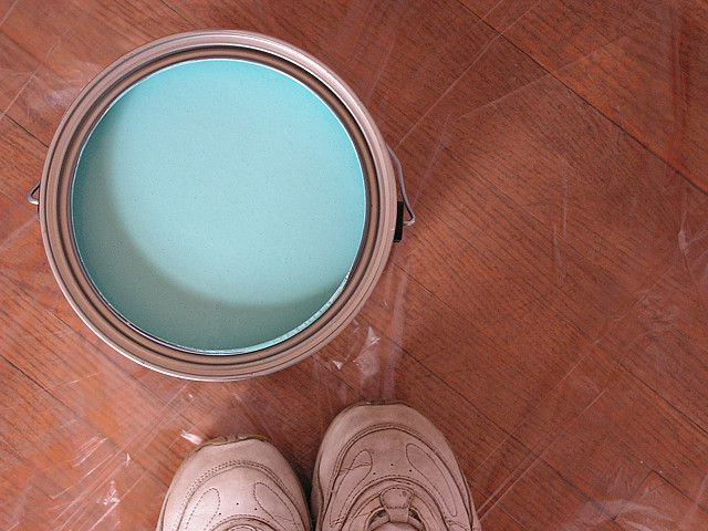 Tiffany blue paint  Behr paint, but the color is Sherwin Williams SW6766 Mariner  What we used for our master bedroom accent wall (and I will eventually use it in the closet or somewhere else too because it's amazing)