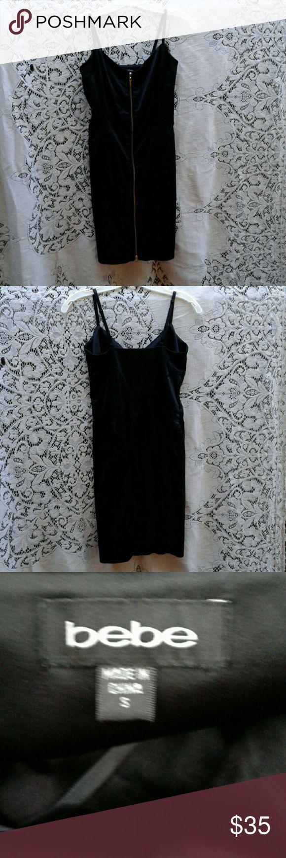 Selling this BEBE BLACK SPAGHETTI STRAP ZIP FRONT DRESS on Poshmark! My username is: msplf1949. #shopmycloset #poshmark #fashion #shopping #style #forsale #BEBE #Dresses & Skirts