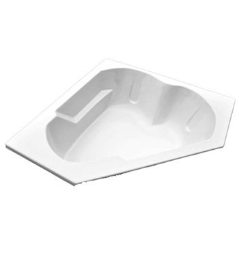American Acrylic Corner Heart-Shaped Soaker Only Bathtub