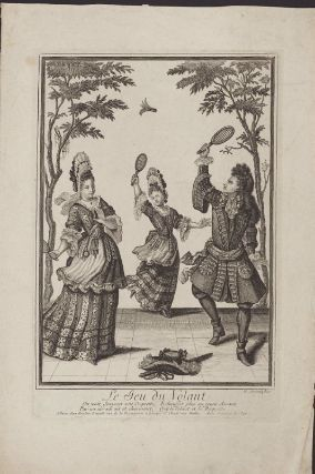 "This 17th century engraving shows a friendly game of badminton. Badminton is one of the newest Olympic sports—it was first played at the Olympics in 1992. Nicolas Arnoult ""Le Jeu du Volant."" Museum of Fine Arts, Boston.: Friends Games, Inspiration Artworks, Century Engraving, Better Tennis, Museums, Fine Art, 17Th Century Art, 1650 1699 Fashion, Heavens"