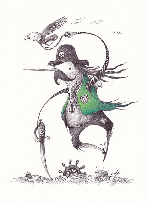 Adorable Narwhal Pirate!