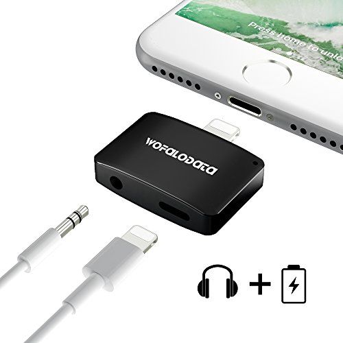 2 in 1 Lightning Adapter for iPhone 7/7 Plus,Wofalodata 2nd Generation Lightning to Aux 3.5mm Audio Headphone and Charge Cable Splitter Compatible for iOS 10.3 - Black  http://topcellulardeals.com/product/2-in-1-lightning-adapter-for-iphone-77-pluswofalodata-2nd-generation-lightning-to-aux-3-5mm-audio-headphone-and-charge-cable-splitter-compatible-for-ios-10-3/?attribute_pa_color=black  AlUMINUM ALLOY SHELL DESIGN FOR iPhone 7 7 Plus.(***NOTICE: This 2 in 1 Adapter is unable