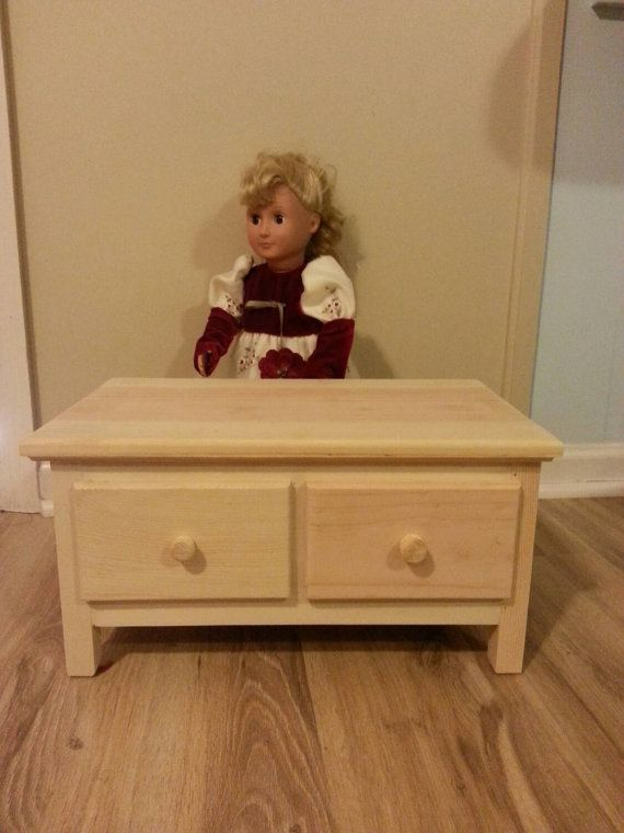 handmade  dresser 18 inch doll bedroom by cmcraftedtreasures