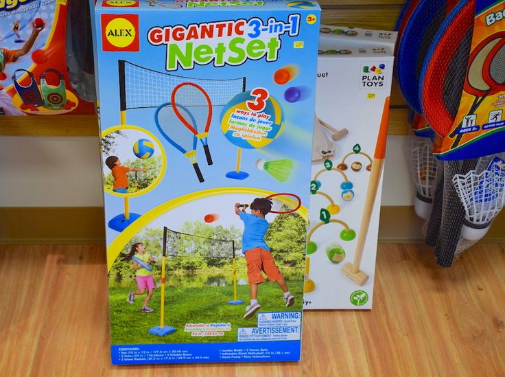 Get ready for big fun with the ALEX Toys Gigantic 3-in-1 Net Set! You can set the net height for volleyball, badminton or tennis. Perfect for your backyard, on family camping trip or a day at the beach. www.toyzonesa.blogspot.com ‪