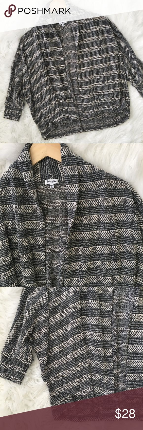 Splendid Blue and White Striped Cardigan Splendid blue and white cardigan. 3/4 length sleeve. In very good condition.   ⭐️10% off 2+ bundle  ⭐️Size XS  ⭐️No stains or flaws ⭐️Item Shelf Splendid Sweaters Cardigans