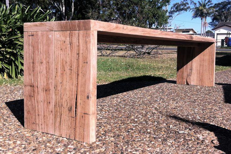 Australian hardwood bench seat, custom order - by Timber & Chisel