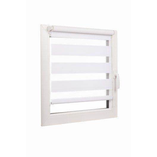 Store enrouleur Jour/nuit INSPIRE, blanc, 56x160 cm