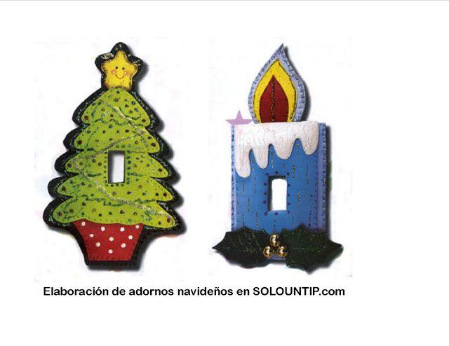 Adornos Navideños en Foami ~ Solountip.com
