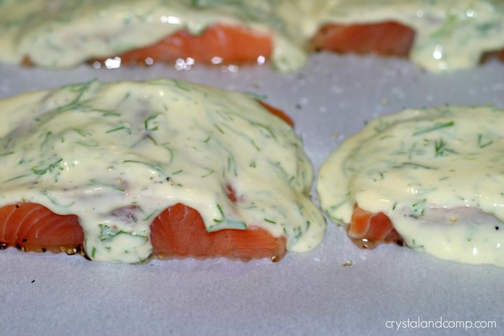 frozen salmon fillets --> follow links on the website for a brown sugar salmon recipe as well