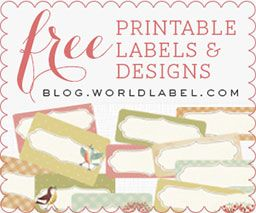 Printable labels and Designs. If you need a label design, they have it!
