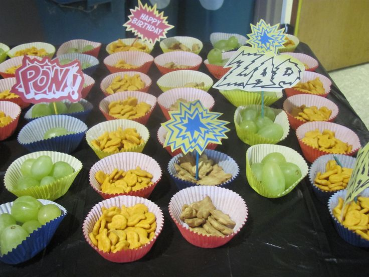 Easy Snacks For Parties Superhero And A Hit Emmas Bday