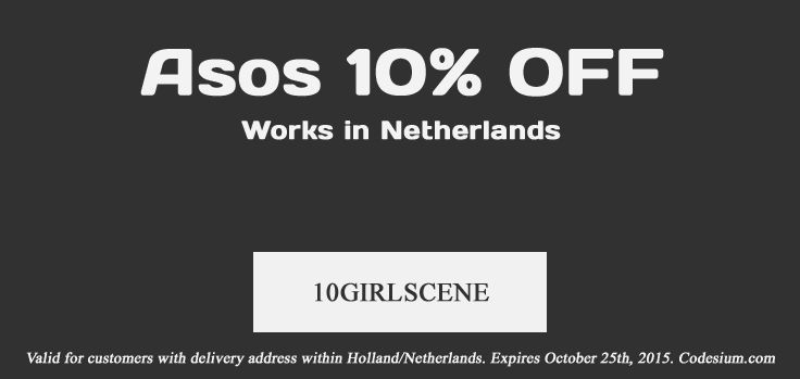 Shop now at ASOS and enjoy 10% discount with this promo code: 10GIRLSCENE. T&Cs apply: http://www.codesium.com/asos-discount-code/