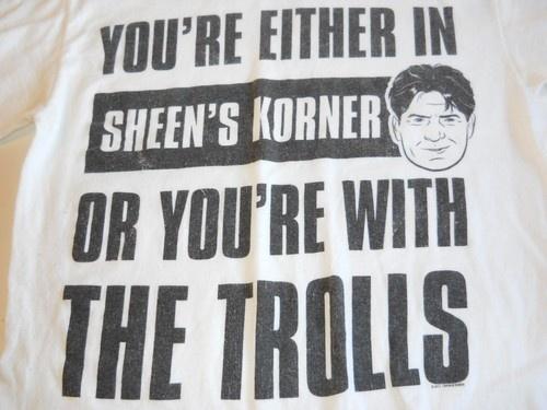 #Charlie #Sheen Shirt on @eBay! http://r.ebay.com/ucmuqG #charliesheen #trolls #hottopic #lol #funny
