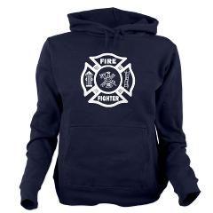 Fire Fighter Hooded Sweatshirt> Firefighter Apparel and Gift Ideas> Bonfire Designs