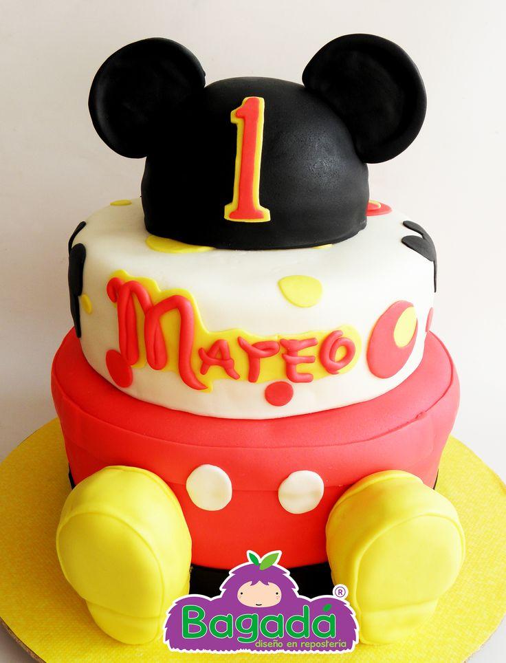 Pastel Mickey Mouse. Bagadá repostería tel. (33) 15 95 49 84 echalegalleta@gma.... FB echalegalletapag