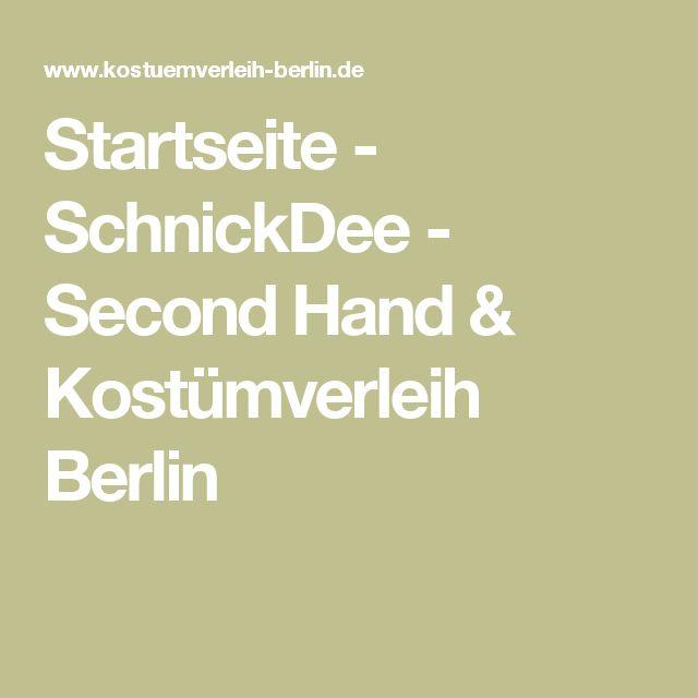 Startseite - SchnickDee - Second Hand & Kostümverleih Berlin