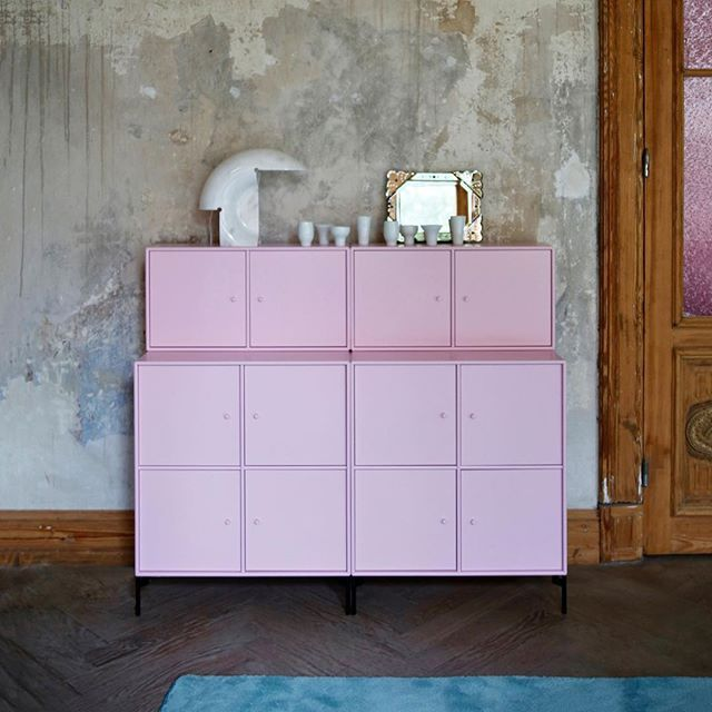 ADORN in the colour Candy Floss in the beautiful setting of the @haller6 location in Hamburg.  by @sebastian_fuchs_hamburg #montanafurniture #danishdesign #dänisch #wohninspiration #wohndesign #regale  #stauraum #designdanois #designclassic #preve