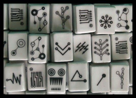 porcelain mah jong set by Kina Gorska $1000