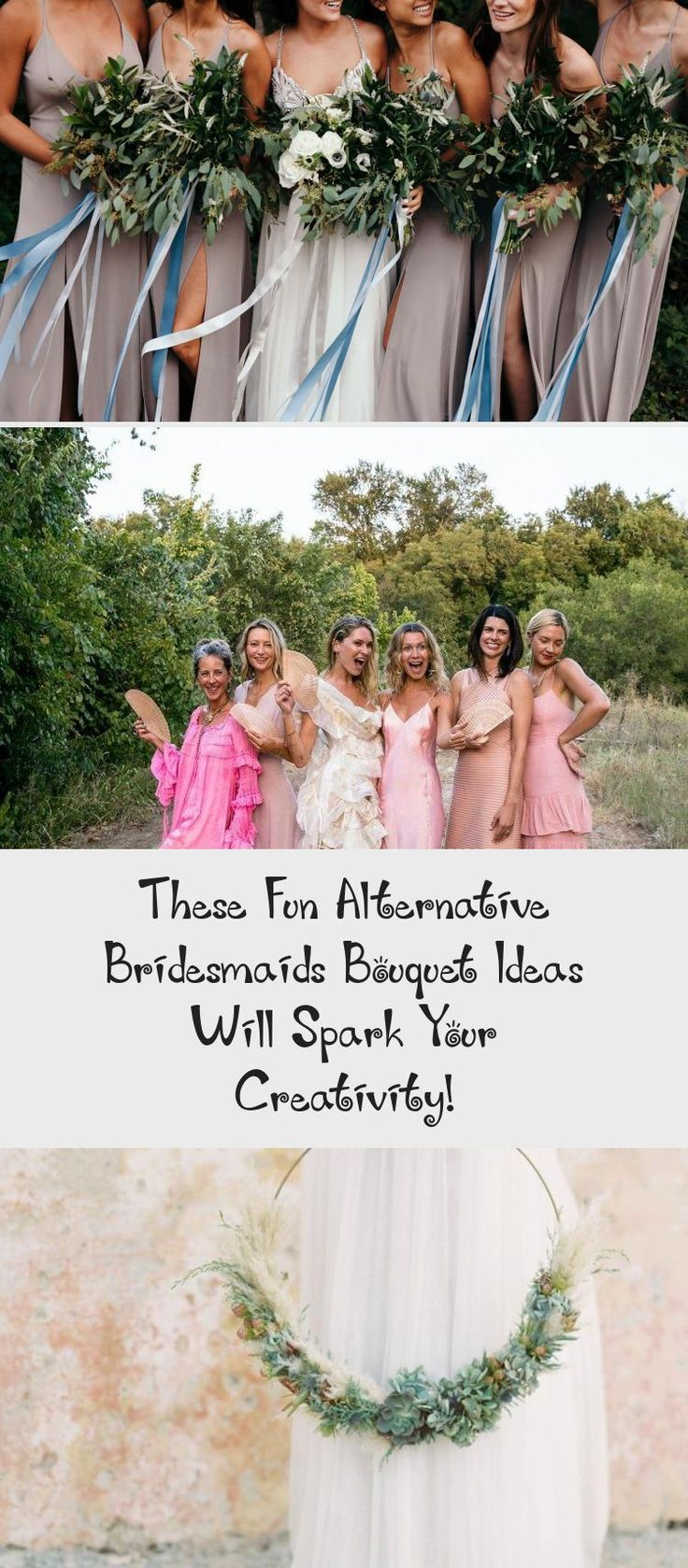 These Fun Alternative Bridesmaids Bouquet Ideas Will Spark Your Creativity! - Green Wedding Shoes #BridesmaidDressesSummer #GreenBridesmaidDresses #PeachBridesmaidDresses #VelvetBridesmaidDresses #MaroonBridesmaidDresses