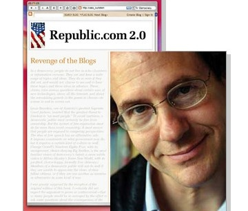 """The Internet is making us stupid: the Internet has been a boon to democracy in all sorts of ways, but if new technology gives us unprecedented access to information, it also gives us more ways to avoid information we don't like. Conservatives are increasingly seeking only conservative views, liberals are seeking only liberal views, and never the twain shall meet. Professor Cass Sunstein's book """"Republic.com 2.0″"""