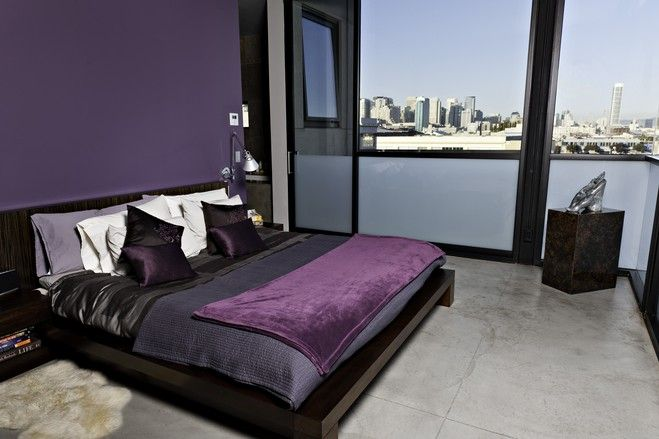 Purple & Grey Bedroom