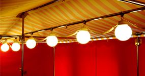 Lambert - Marktschirm -  Lampenkette