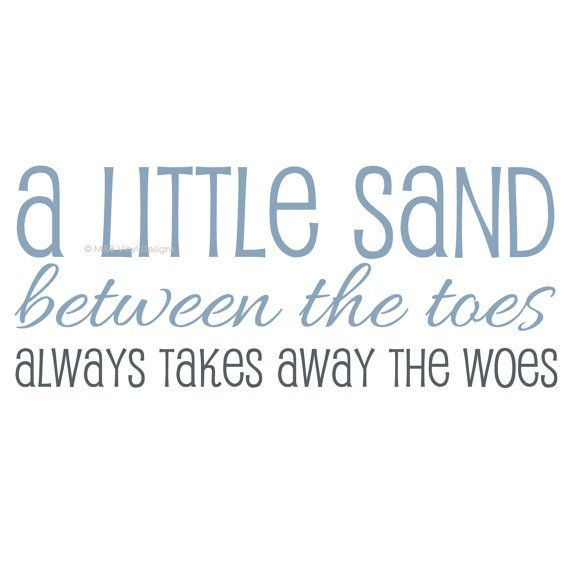 A little sand between the toes always takes away the woes. http://www.CarolinaDesigns.com