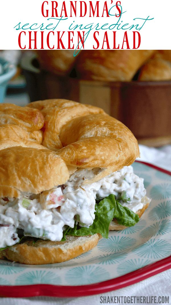 Grandma S Secret Ingredient Chicken Salad Recipe Salad Recipes Chicken Salad Recipes Chicken