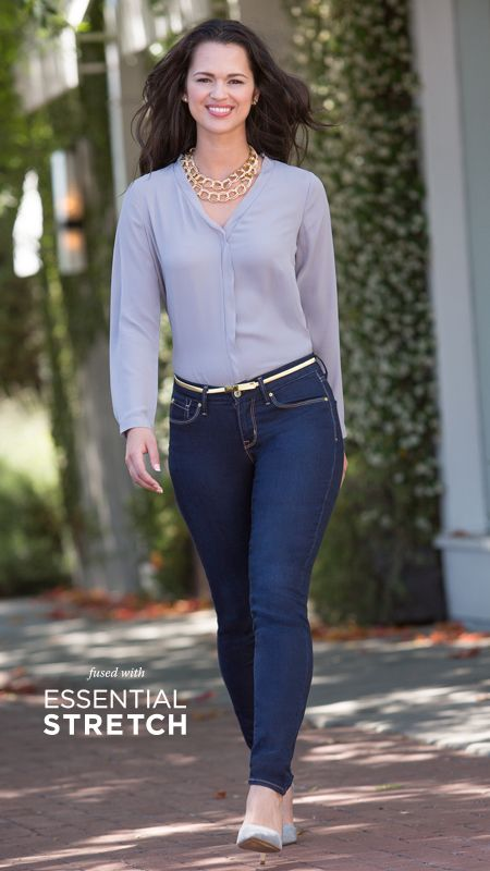 DENIZEN® from Levi's® jeans Essential Stretch Shaping Curvy Skinny.time to  love our curves ! And this fit is very flattering! - 30 Best Denizen Jeans Images On Pinterest Couple Style, Levis