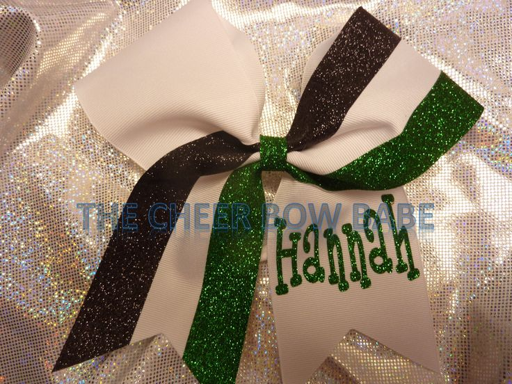 TEAM Glitter Striped Cheer Bow * You Pick Colors ~ Personalized by TheCheerBowBabe on Etsy