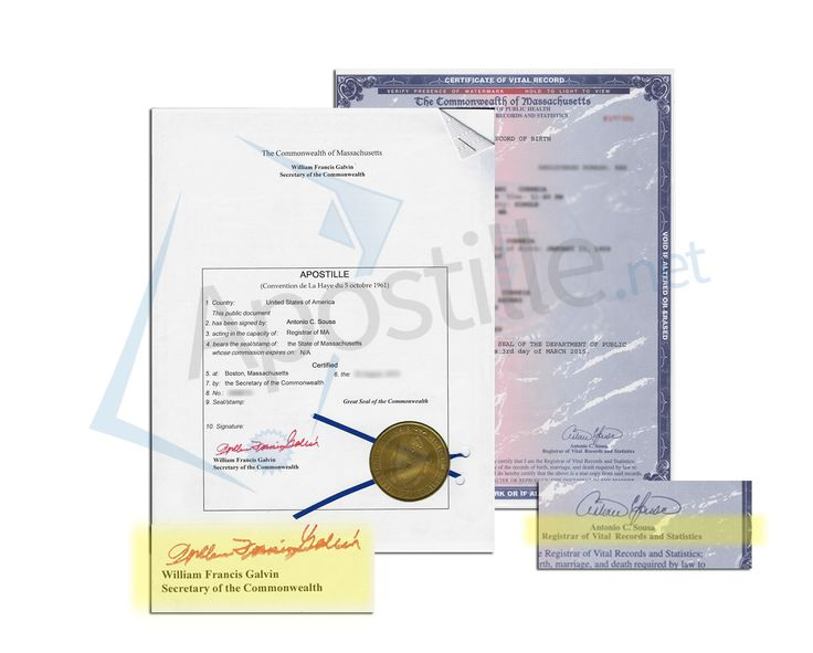 this is a sample of a Massachussets Birth Certificate acceptable for - copy apostille birth certificate massachusetts