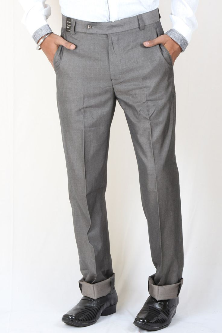 http://tinyurl.com/jejmyu4 Buy Branded DMARK Gray1 Polyester Cotton Trousers For Men Lowest Prices only on GetAbhi.com