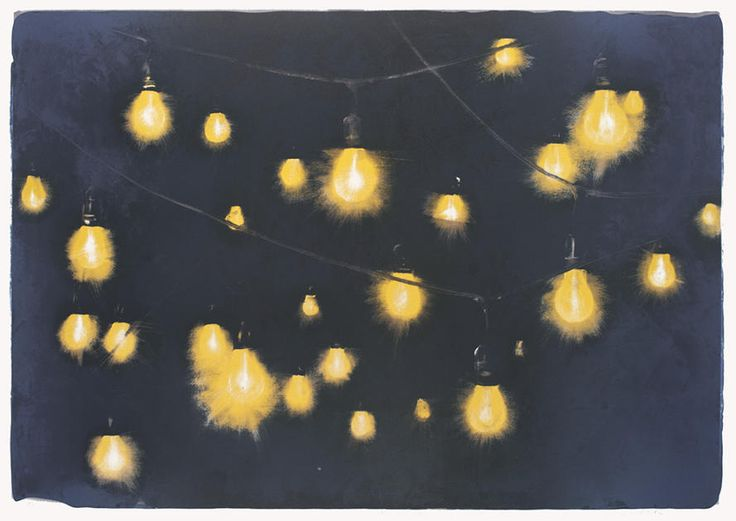 Light strings (mørk blå) av Frank Brunner