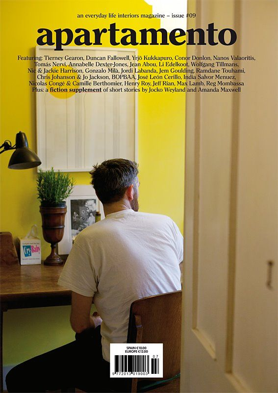 Cover of Apartamento Magazine issue #09 shot by Wolfgang Tillmans.