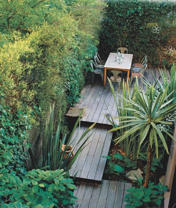 Love the tiered decks  I so miss having a place with a pretty yard...cussing neighbors keep me from mine