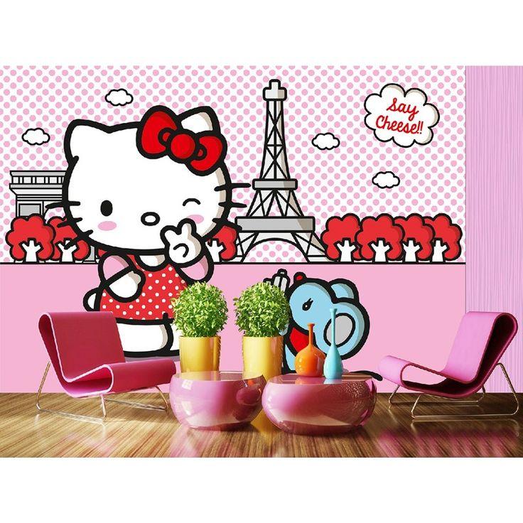 Fototapet Hello Kitty pentru pereti din camere copii si gradinite