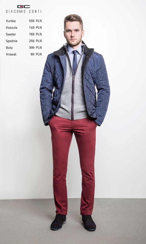 Stylizacja Giacomo Conti: Kurtka Leonardo 15/08LK, sweter Tomasso 14/49CS, koszula Juseppe 15/06/19-K, spodnie Stefano 15/25O, buty G7993.