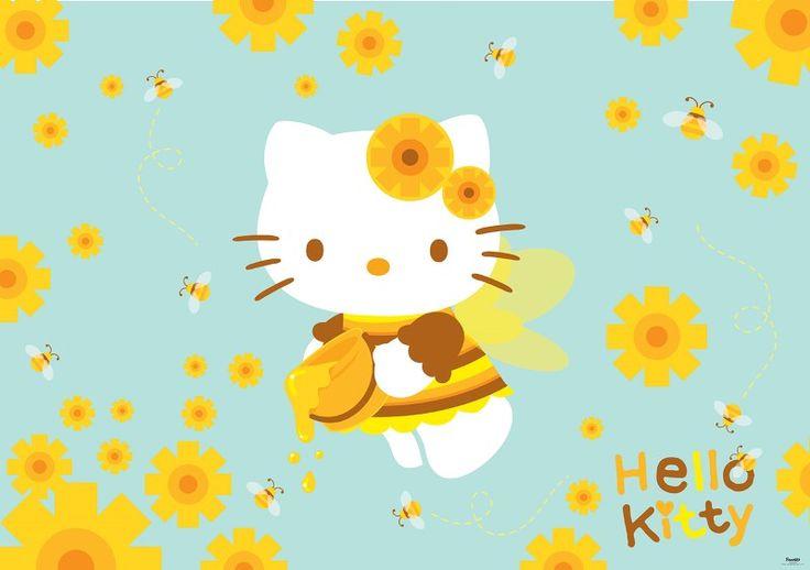 fototapet Hello Kitty