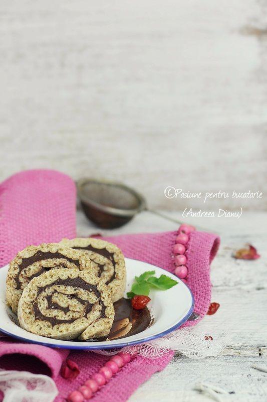 Chocolate Roulade-Dukan #dukan #recipe #diet