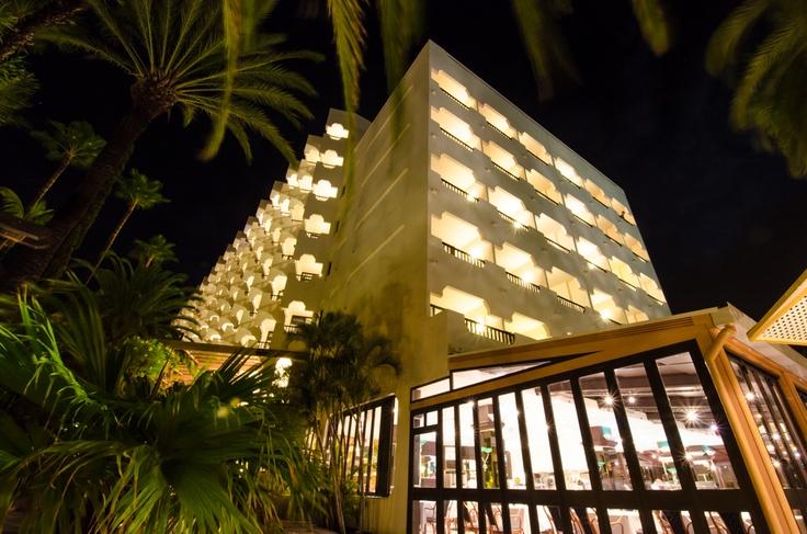 IFA Beach facade at night