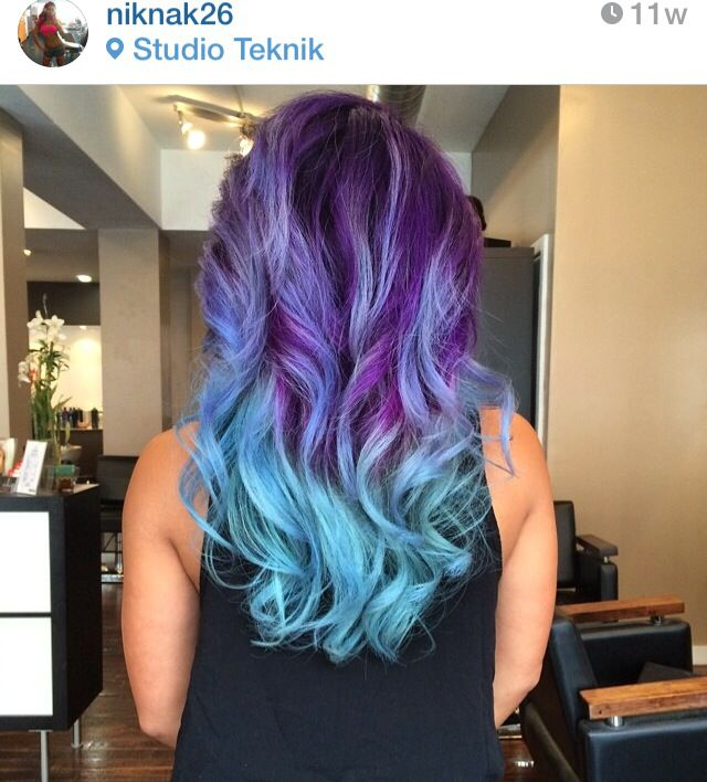 Pravana Violet and Neon Blue, 2 of the colors I'm using