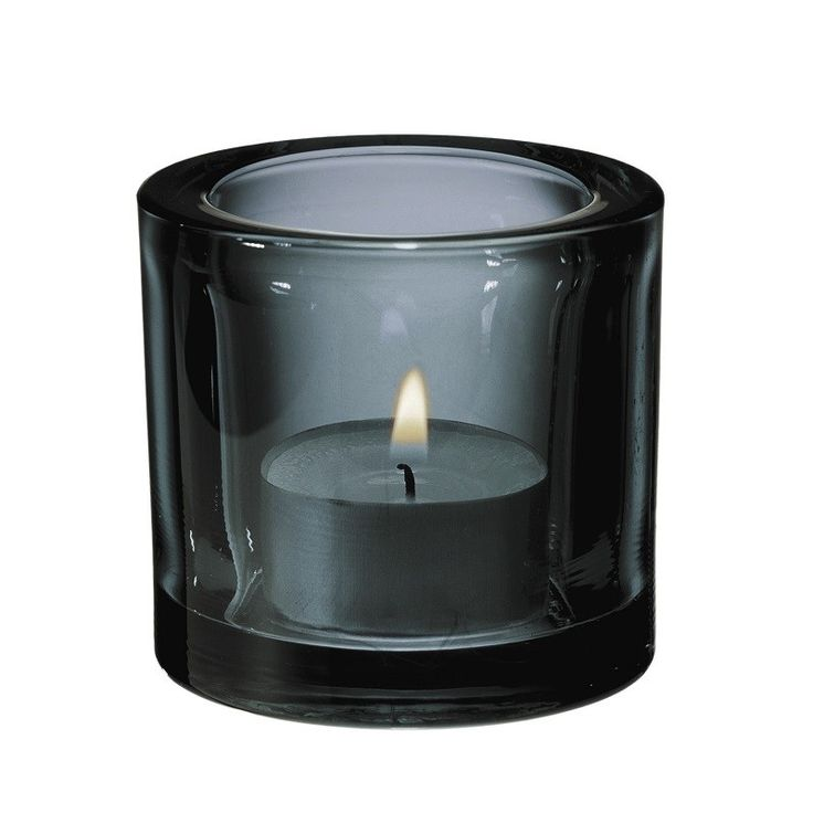 Iittala Kivi Tealight Holder, Grey, sexy & sultry grey glass will add a touch of cool & modern elegance.