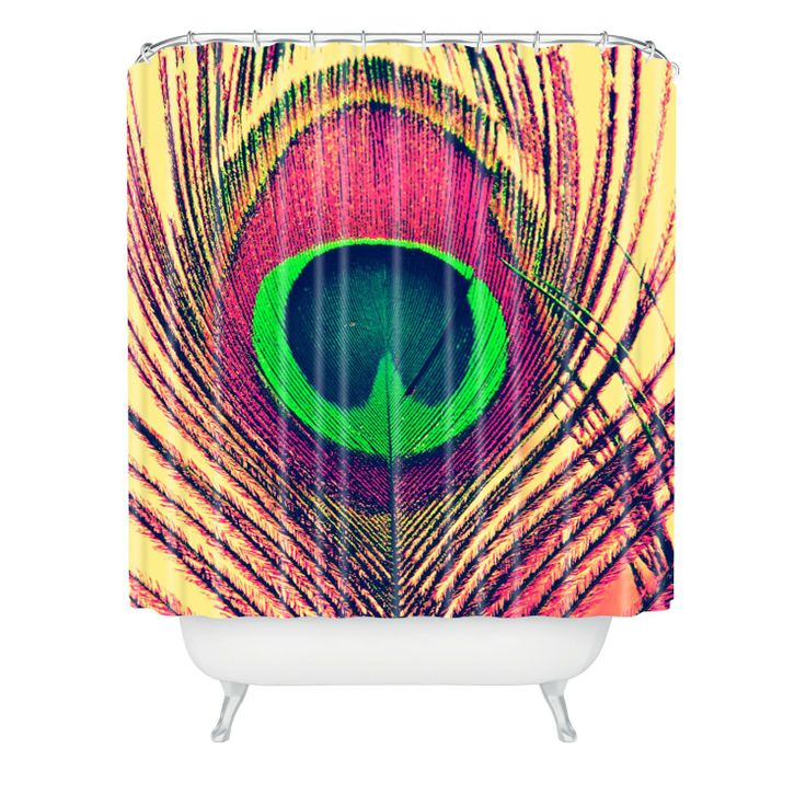 amazoncom deny designs shannon clark peacock 2 shower curtain 69 by 72