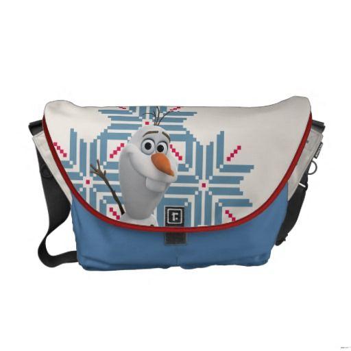 Olaf -  Blue Snowflake Messenger Bags