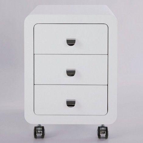 KARE Prague - White Club Storage Container 3 Drawers